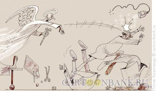 Карикатура: Вот вам, коновалам!!, Попов Александр