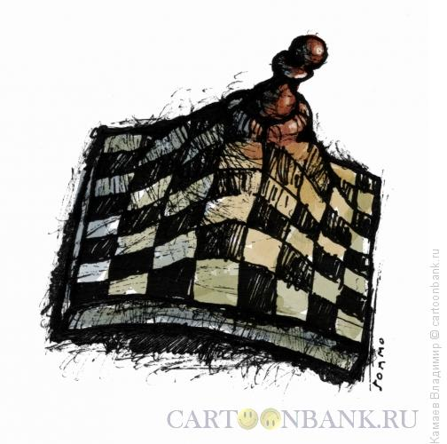 Карикатура: Рождение королевской пешки, Камаев Владимир