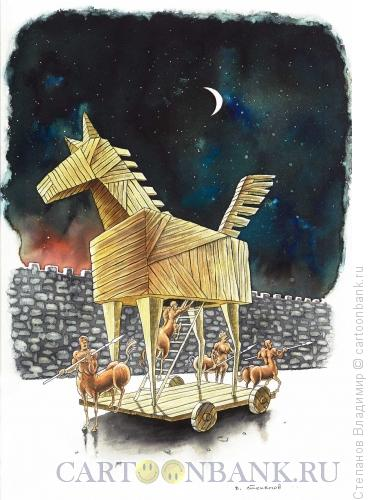 Карикатура: Кесарю - кесарево..., Степанов Владимир