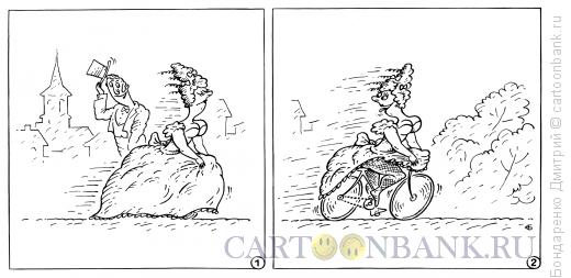 Карикатура: Летящей походкой, Бондаренко Дмитрий