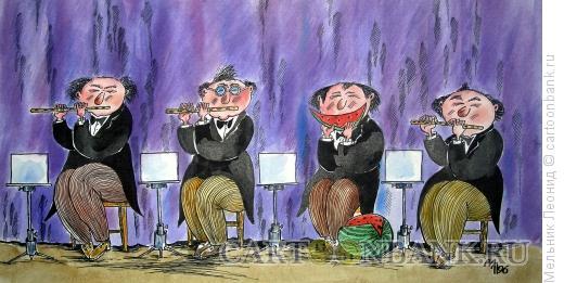 Карикатура: Квартет, Мельник Леонид