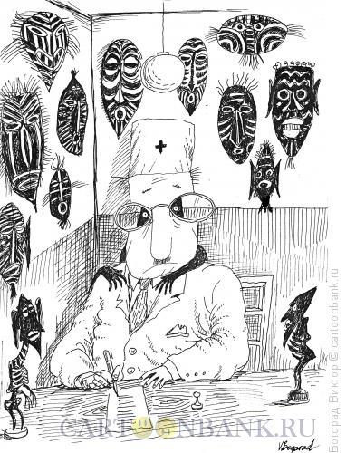 Карикатура: Доктор-Африка, Богорад Виктор