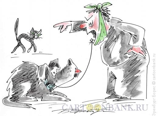 Карикатура: Зуб, Эренбург Борис