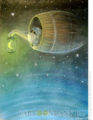 Карикатура: Космонавт., Богорад Виктор