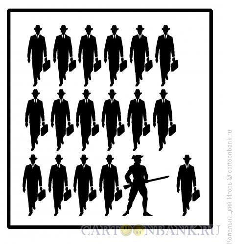 Карикатура: солдат и бизнесмен, Копельницкий Игорь