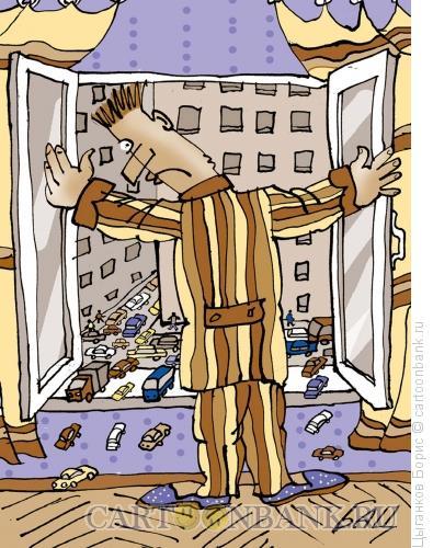 Карикатура: Окно, Цыганков Борис