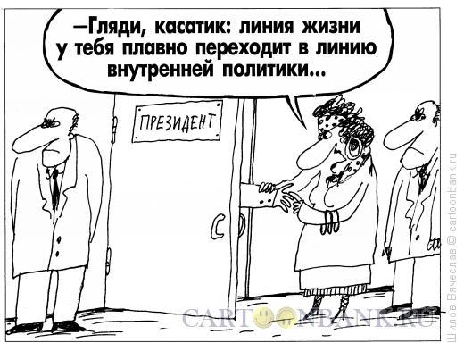 Карикатура: Гадалка и Президент, Шилов Вячеслав