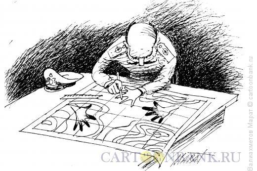 Карикатура: Штабист, Валиахметов Марат