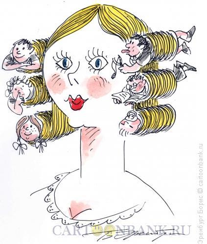 Карикатура: Мать, Эренбург Борис