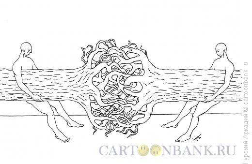 Карикатура: перетягивание каната, Гурский Аркадий