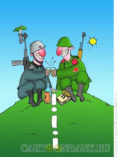 Карикатура: на границе, Соколов Сергей