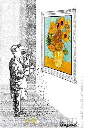 Карикатура: В музее, Богорад Виктор