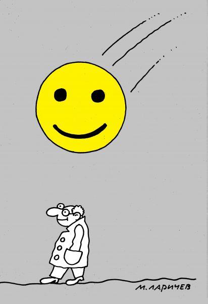 Карикатура: смайлик, михаил ларичев