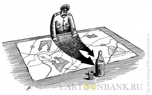 Карикатура: военные карты, Гурский Аркадий