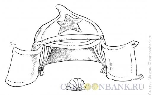 Карикатура: Революционный спектакль, Смагин Максим