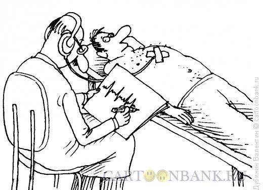 Карикатура: Кардиограмма, Дубинин Валентин
