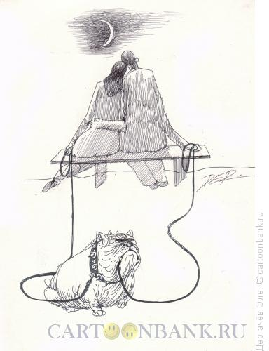 Карикатура: Под луной, Дергачёв Олег