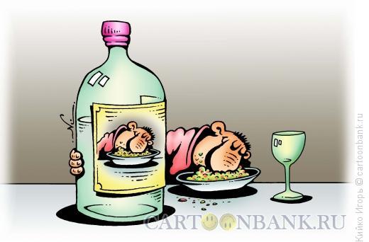 Карикатура: Мужик в салате, Кийко Игорь
