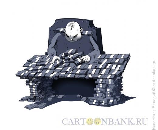 Карикатура: взяточник, Новосёлов Валерий