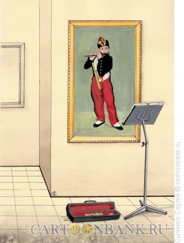 Карикатура: Флейтист, Сыченко Сергей