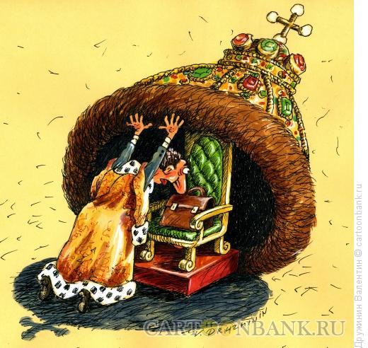 Карикатура: Под шапкой, Дружинин Валентин
