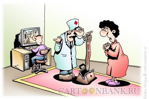 Карикатура: Средство от игромании, Кийко Игорь
