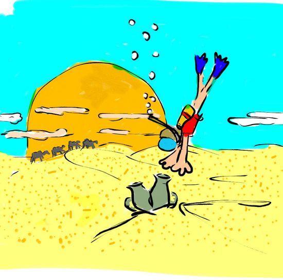 Карикатура: Амфоры в пустыне, C1