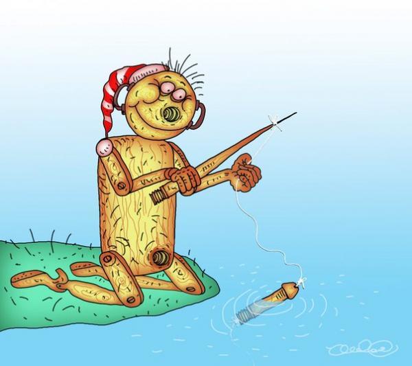 Карикатура: смекалка, Олег Горбачев