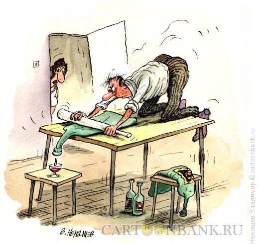 Карикатура: выжимаем по капле, Ненашев Владимир