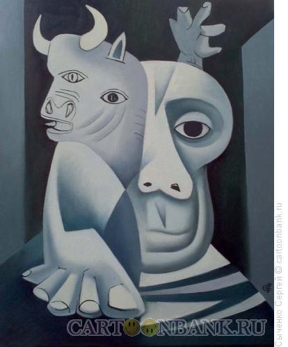 Карикатура: Пабло Пикассо., Сыченко Сергей