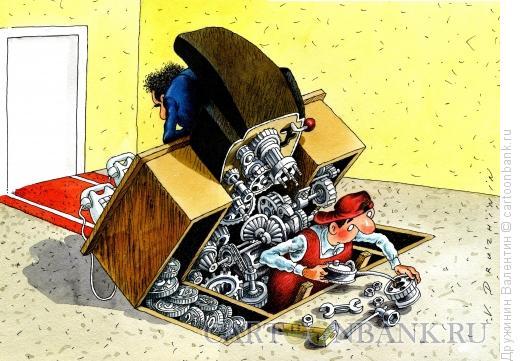 Карикатура: Бюрократ, Дружинин Валентин