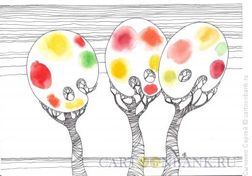 Карикатура: Краски осени, Сыченко Сергей