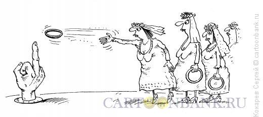Карикатура: накинь колечко, Кокарев Сергей