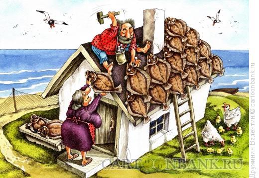 Карикатура: Крыша, Дружинин Валентин