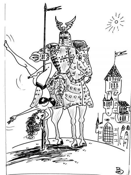 Карикатура: Рождение приватного танца, Валерий Каненков