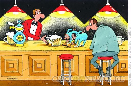 Карикатура: Керлинг пиво, Дружинин Валентин
