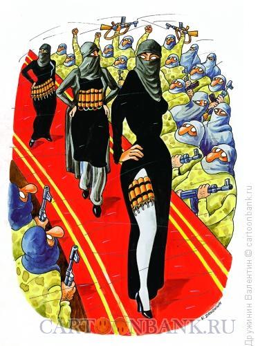 Карикатура: Мода, Дружинин Валентин