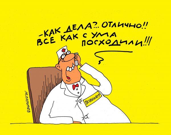 Карикатура: отлично!, михаил ларичев