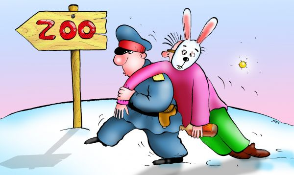 Карикатура: 1 января, Соколов Сергей