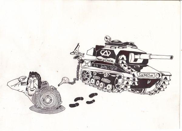 Карикатура: игрищя танковых геймеров, василенко игорь
