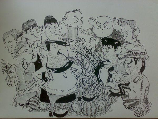 Карикатура: Торговля - дело тонкое !, Константин Мухоморов