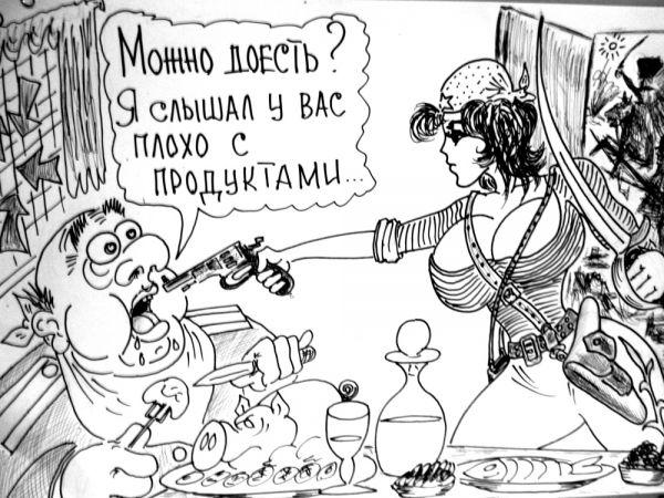 Карикатура: Настоящий полковник, Валерий Каненков