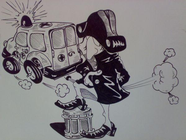 Карикатура: Пронесло ., Константин Мухоморов
