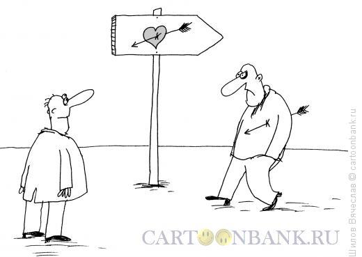 Карикатура: Указатель, Шилов Вячеслав