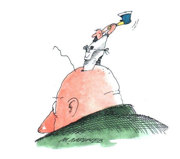 Карикатура: Это есть наш последний..., михаил ларичев