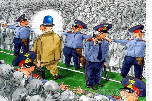 Карикатура: Шляпа мигалка, Дружинин Валентин