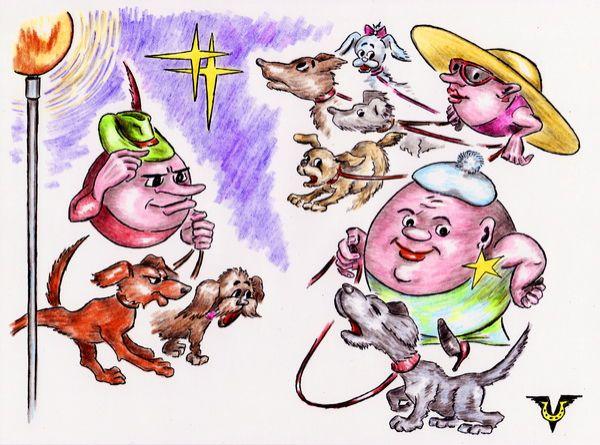 Карикатура: Спутники, Владимир Уваров