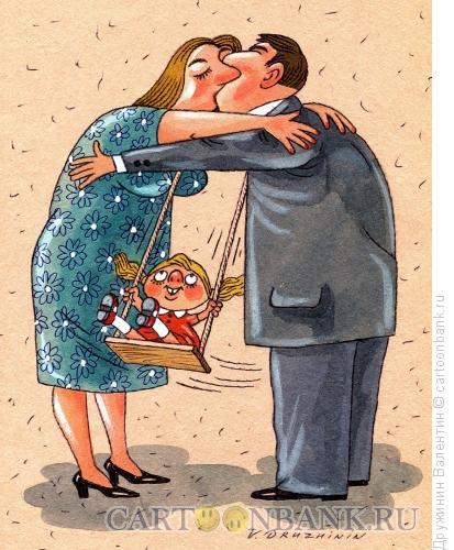 Карикатура: Мы вместе, Дружинин Валентин