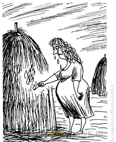 Карикатура: Поджог, Богорад Виктор
