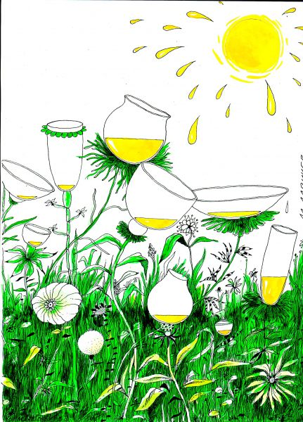 Карикатура: солнце, михаил ларичев